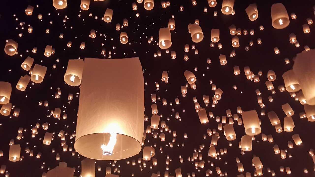 Loi Krathong Paper Lanterns