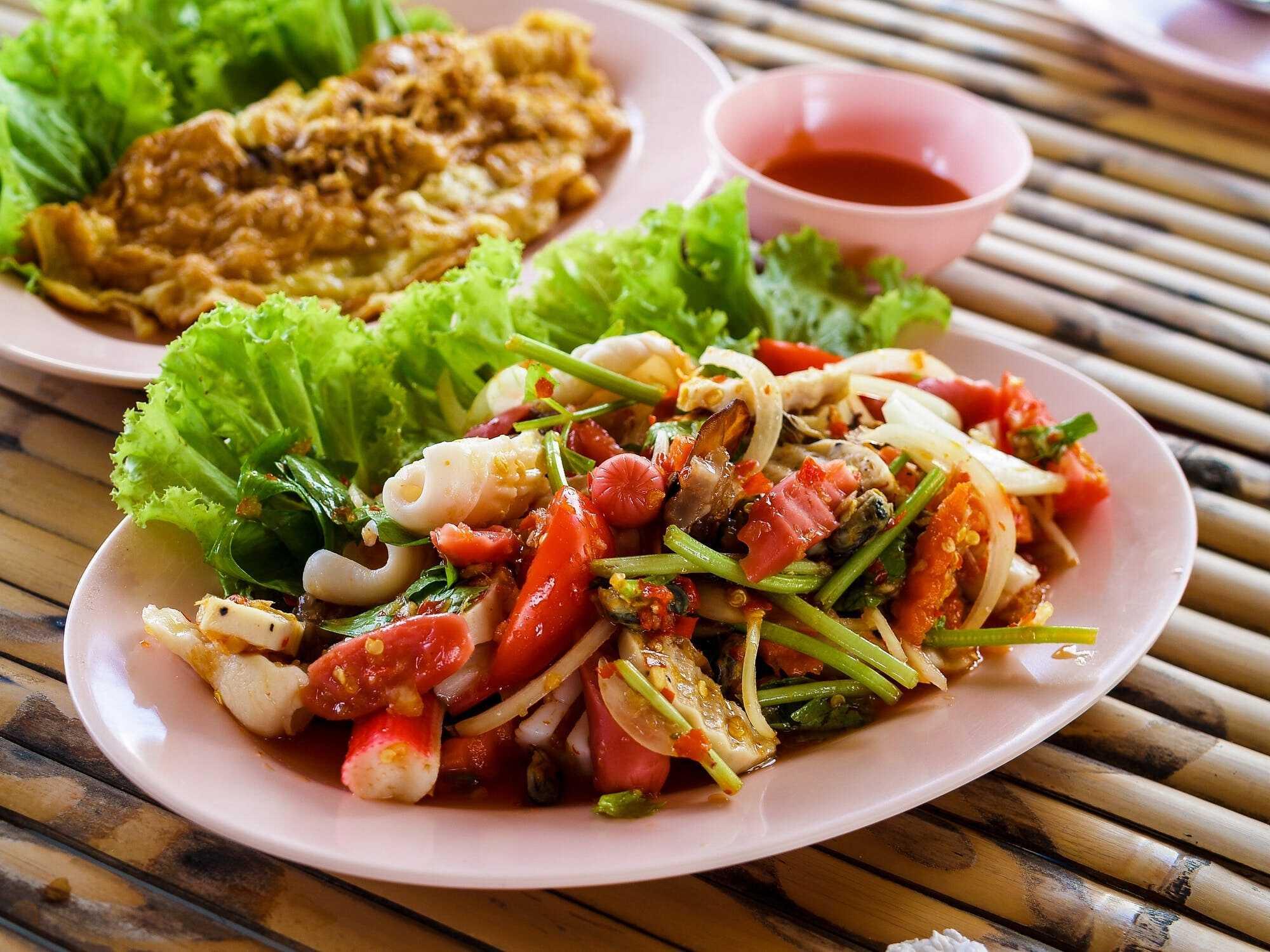 Yam style Thai salad