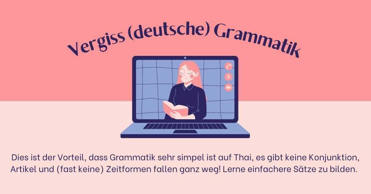 Thai zu lernen - Grammatik