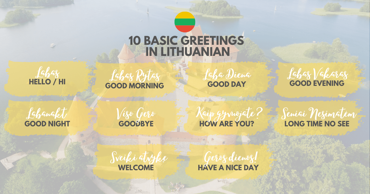 Basic Greetings in Lithuanian