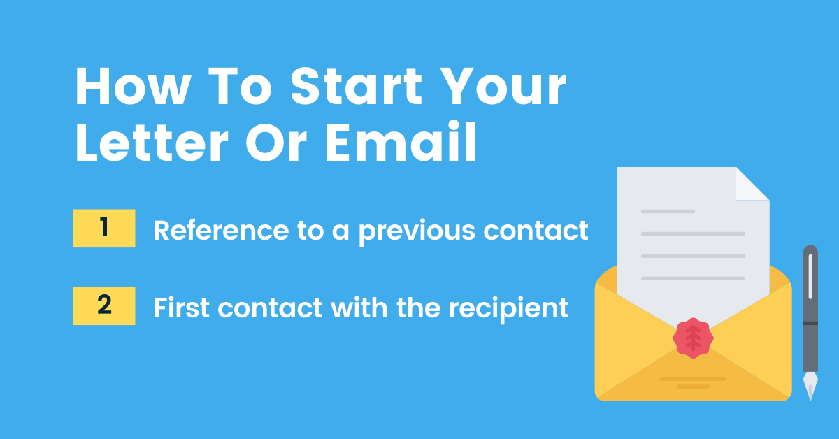 How To Start Your Letter Or Email