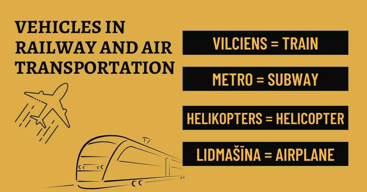 Latvian Vocabulary About Transportation - Railway And Air Transportation