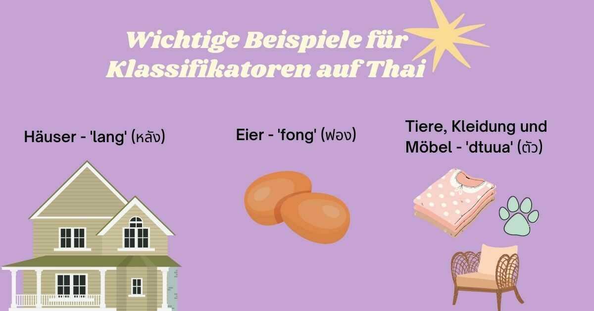 Thailändischen Klassifikatoren