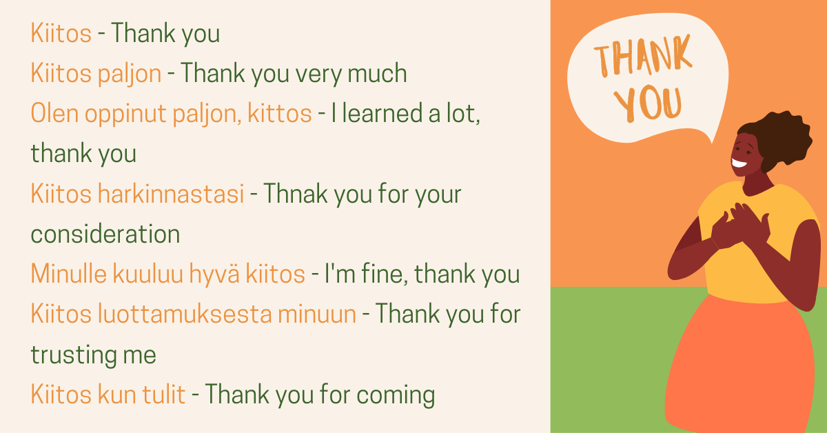 Learn To Say Thank You In Finnish