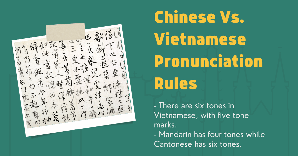 Chinese And Vietnamese: Pronunciation Rules