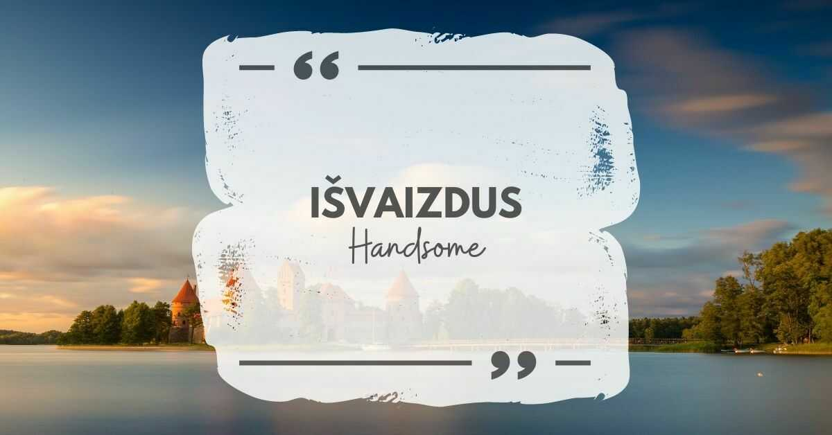 The Lithuanian word for handsome is išvaizdus.