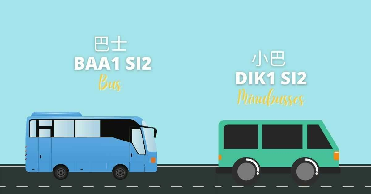 Cantonese Vocabulary About Transportation | Bus (巴士) and Minubusses (小巴 )