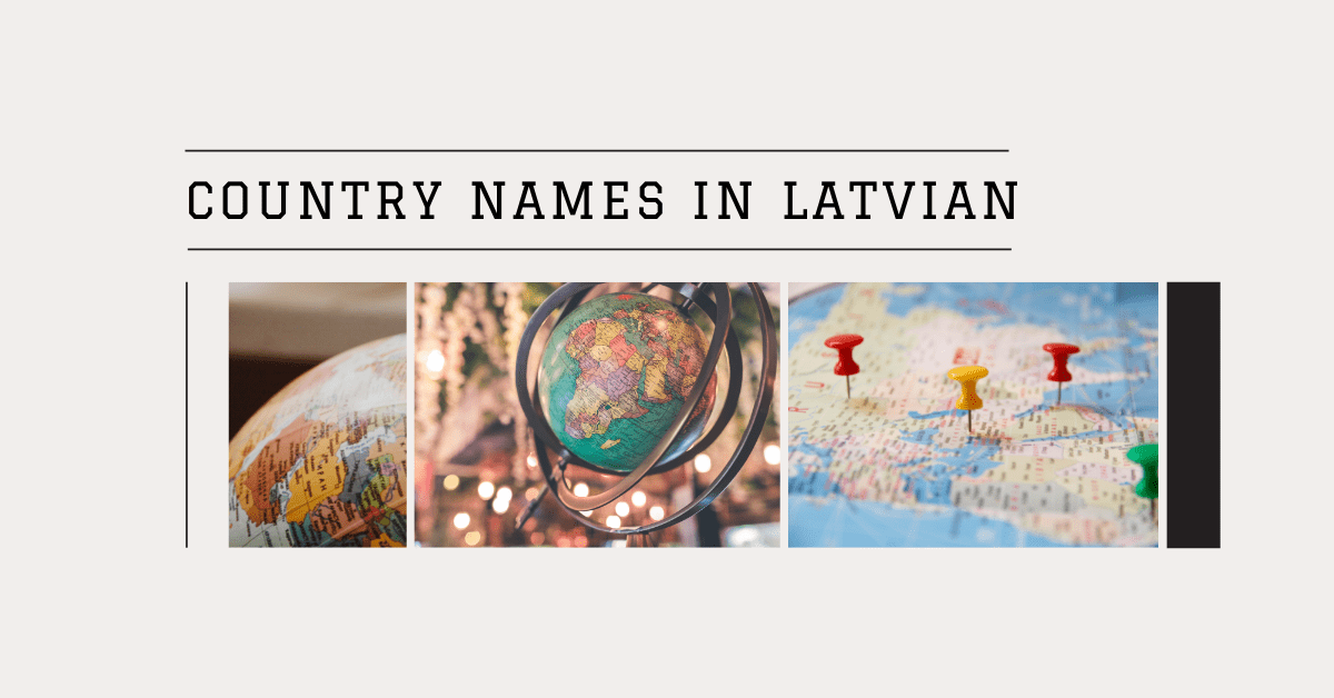 Country Names In Latvian