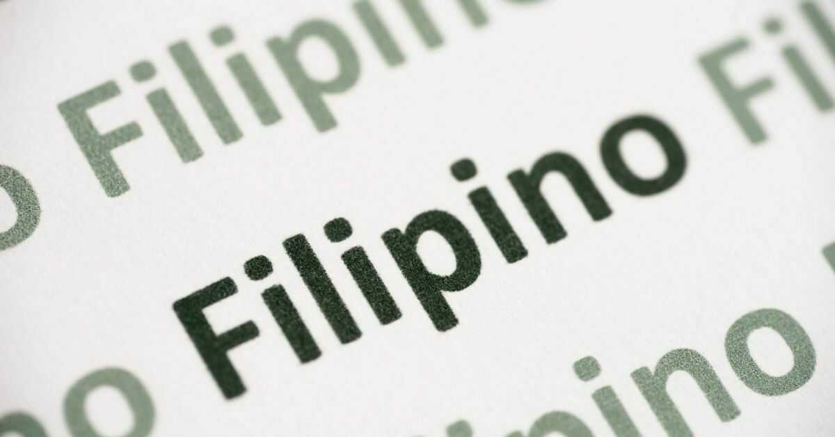 History Of The Tagalog Language: filipino