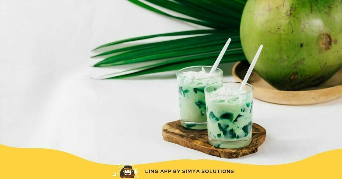 Buko Pandan - Young Coconut Pandan Salad