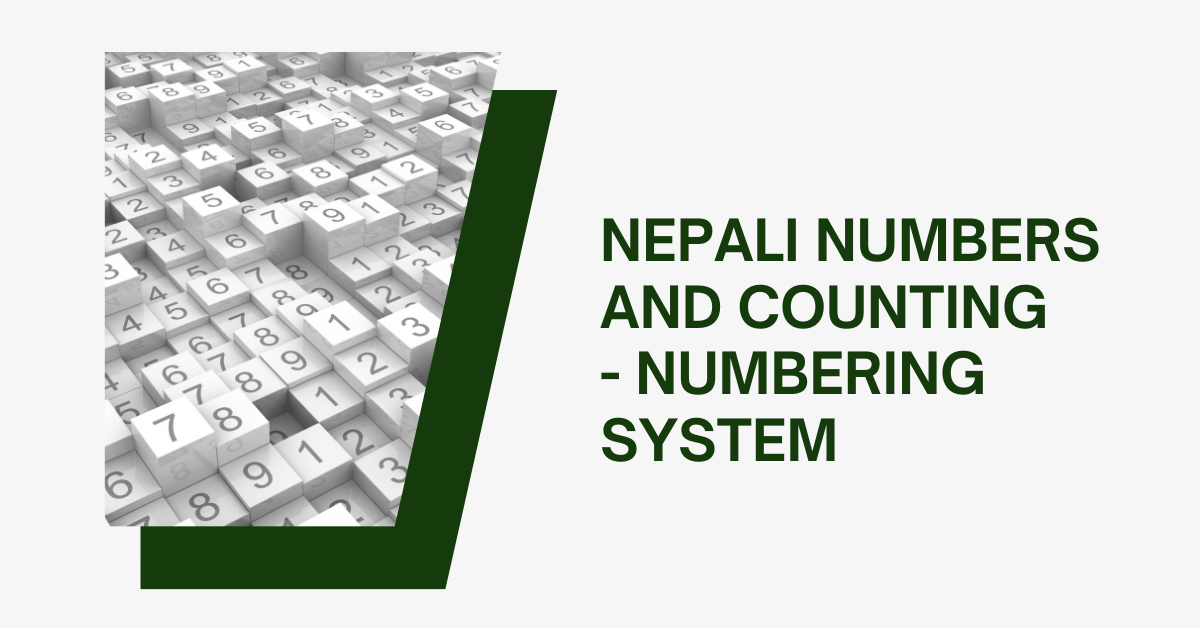 Nepali Numbers And Counting