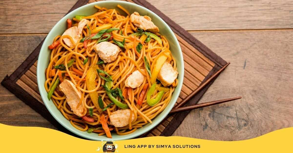 chinese food chow mein