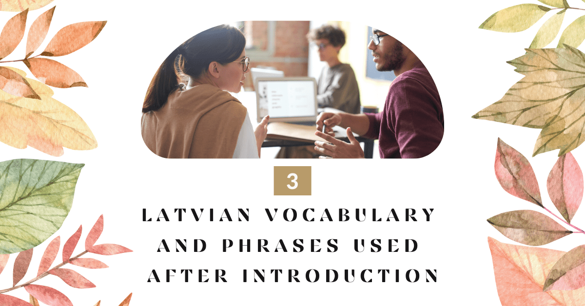 Introducing Yourself  In Latvian