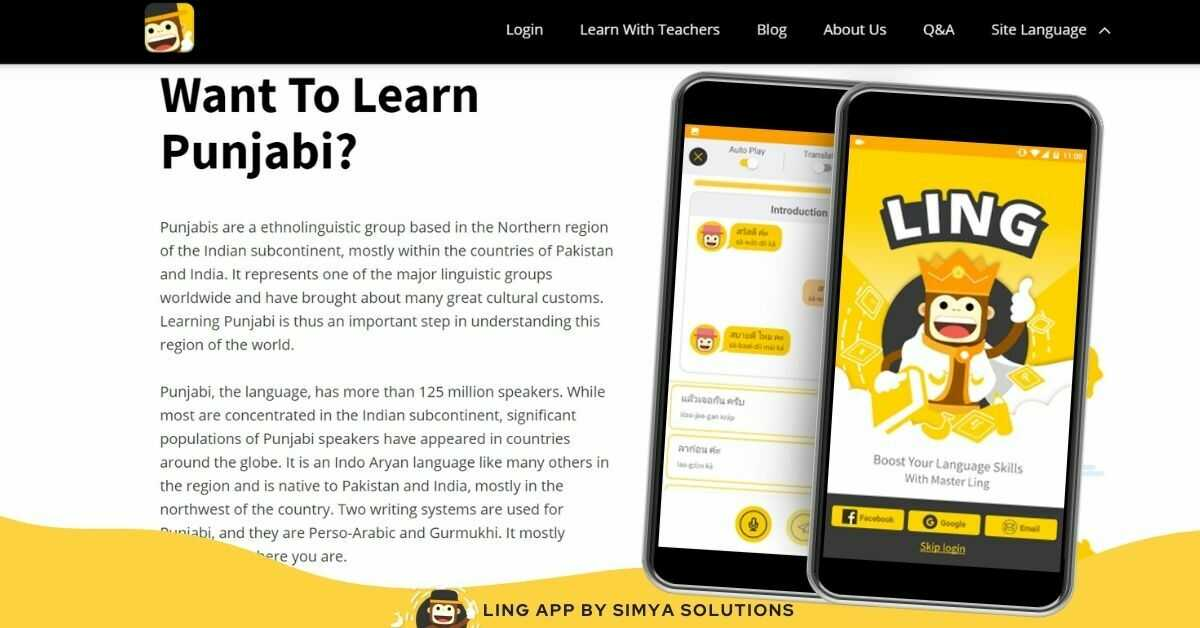 Learn Punjabi With Ling App
