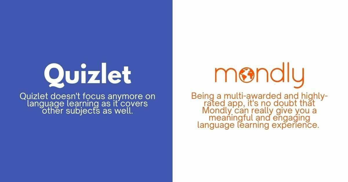 Quizlet VS Mondly